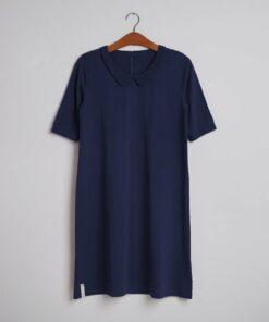 Elise kjole blå Grobund, bæredygtig, GOTS Dansk, Miljø Bevist.