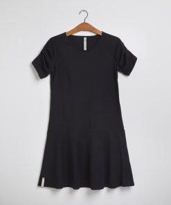 Elizabeth kjole sort Grobund, bæredygtig, GOTS Dansk, Miljø Bevist.