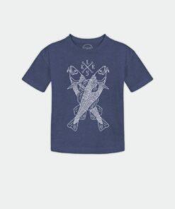 blå t-shirt, økologisk, elsk til børn,